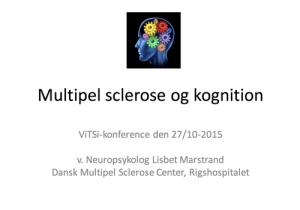 """Powerpoint forside af præsentationen """"Multipel sclerose og kognition"""""""