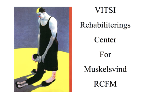 """Powerpoint forside af præsentationen """"Rehabiliteringscenter for muskelsvind"""""""