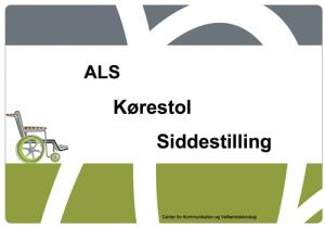 """Powerpoint forside af præsentationen """"ALS, kørestol, siddestilling"""""""