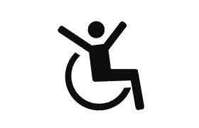 Ikon til arbejdsgruppen tidlig indsats /kørestole